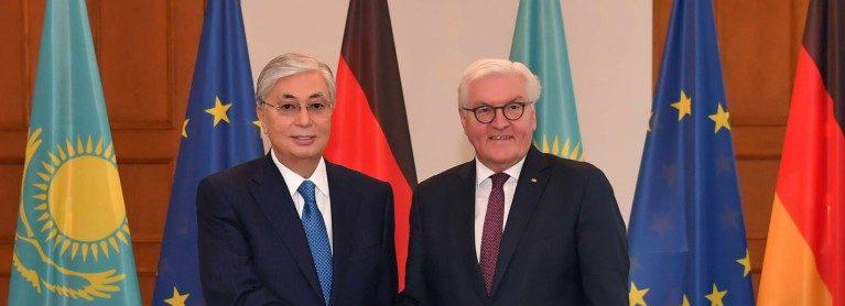 President Kassym-Jomart Tokayev held talks with German Federal President Frank-Walter Steinmeier