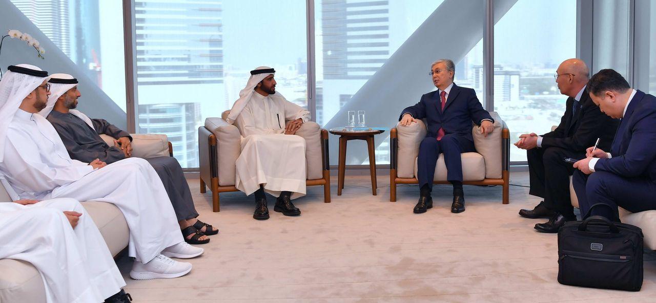 Мемлекет басшысы Дубай инвестициялық корпорациясының атқарушы директоры Мұхаммед аш-Шайбанимен кездесті