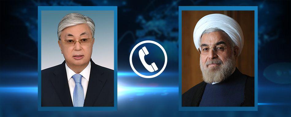 Қазақстан Президенті Қасым-Жомарт Тоқаев Иран Президенті Хасан Руханимен телефон арқылы сөйлесті