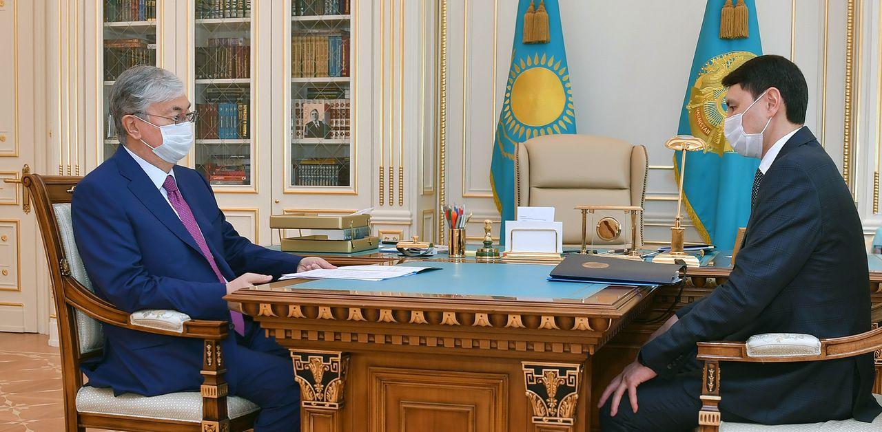 Мемлекет басшысы Қаржы министрі Ерұлан Жамаубаевты қабылдады