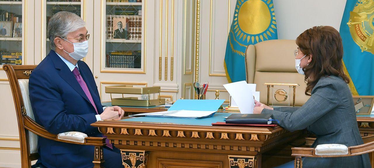 Мемлекет басшысы Ақпарат және қоғамдық даму министрі Аида Балаеваны қабылдады