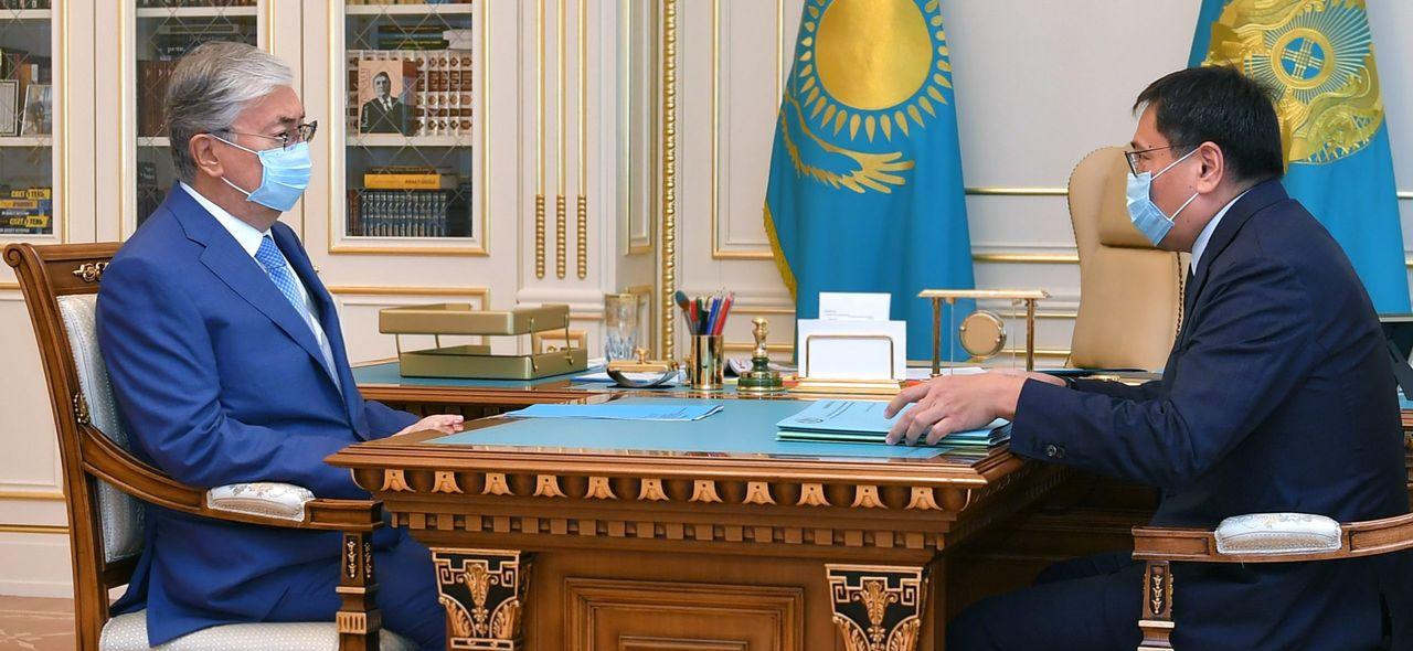 Касым-Жомарт Токаев принял председателя Национального банка Ерболата Досаева