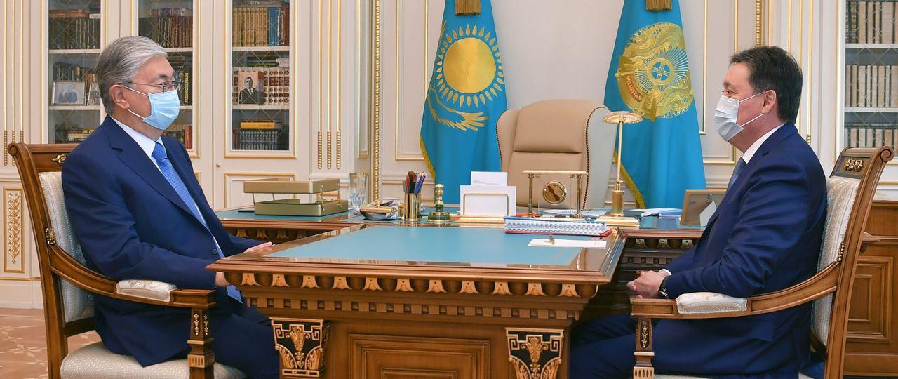 Президент Касым-Жомарт Токаев принял Премьер-министра Аскара Мамина