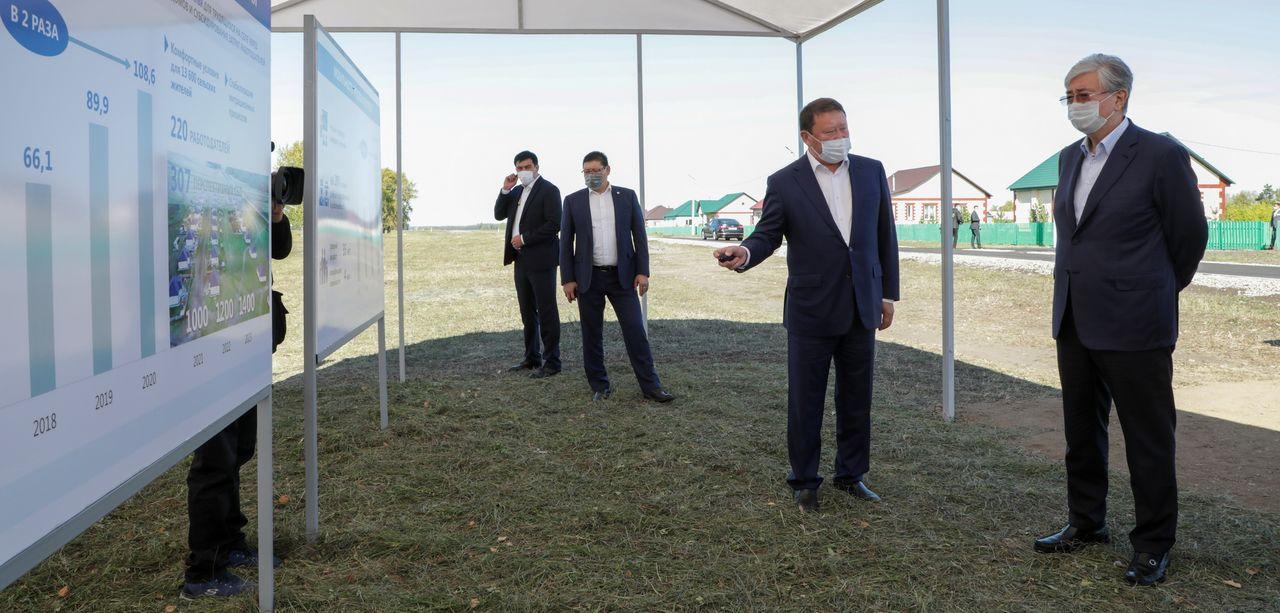 Президент встретился  с  гражданами, переселившимися в Кызылжарский район