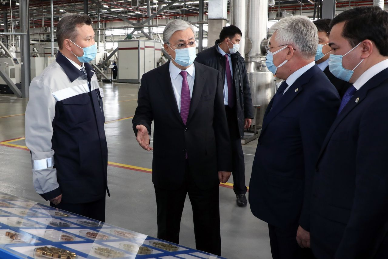 "The President visits the ""Saryarka"" Special Economic Zone"