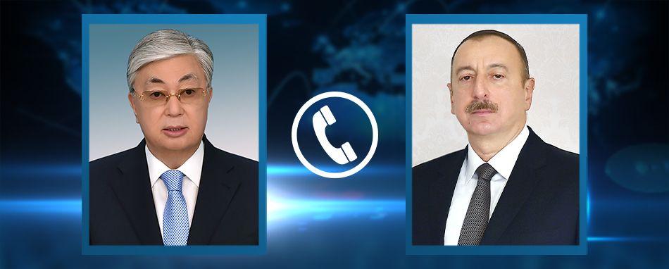 President of Kazakhstan Kassym-Jomart Tokayev had a telephone conversation with President of Azerbaijan Ilham Aliyev