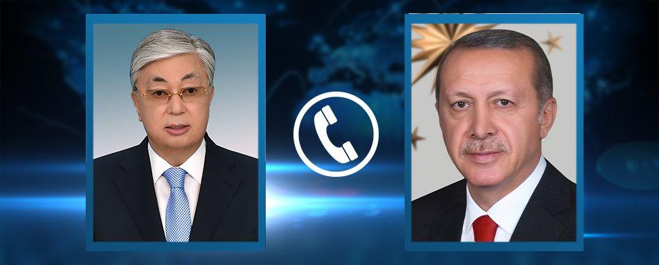 Қасым-Жомарт Тоқаев Түркия Президенті Режеп Тайип Ердоғанмен телефон арқылы сөйлесті